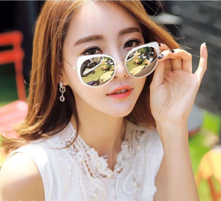 StyleOnMe_Cat-Eye Reflective Sunglasses #Classic #Chic #Timeless #Koreanfashion