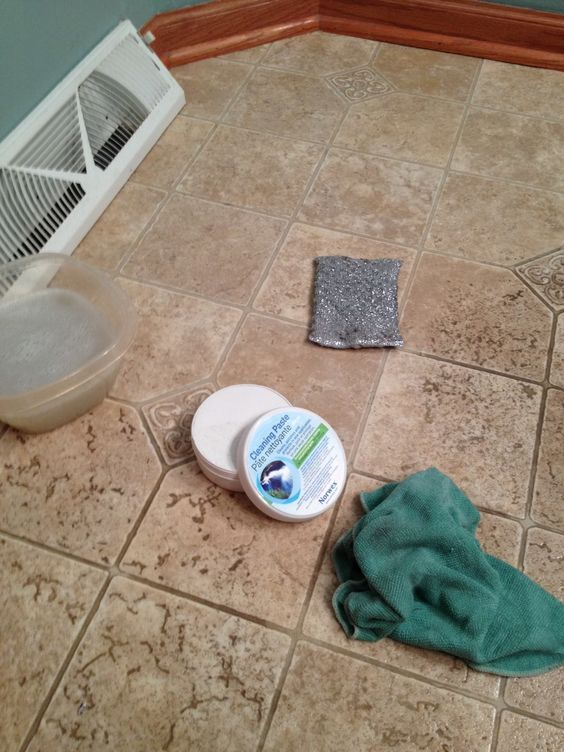 Restore your grout with Norwex Cleaning Paste and Norwex EnviroCloth. For a little extra scrubbing power, use the Spiri Sponge