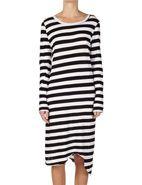 Bassike Stripe Long Sleeve T-Shirt Dress #davidjones #loves #shop #style #fashion #chic #bassike #dress #nautical