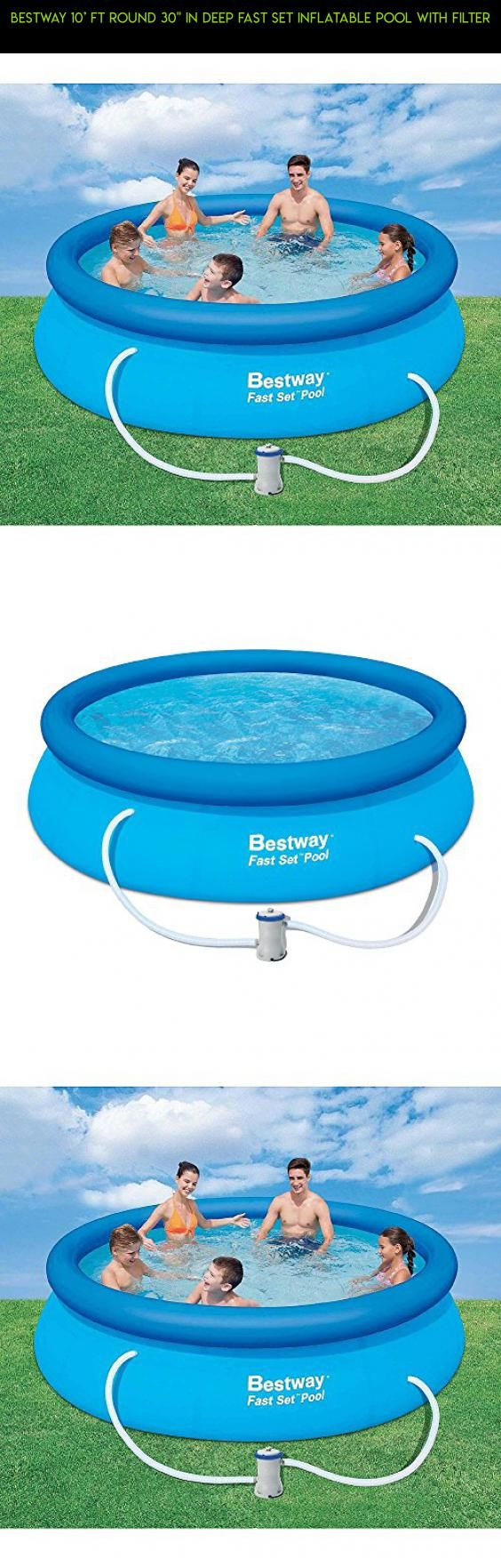 """Bestway 10' ft Round 30"""" in Deep Fast Set Inflatable Pool with Filter #plans #racing #parts #tech #technology #inches #products #drone #deep #gadgets #shopping #camera #pools #fpv #30 #kit"""