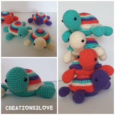 Haakpatroon schildpad Stoffel       Heel veel plezier met het haakpatroon van schildpad Stoffel      Ik zou het ontzettend leuk vinden als...