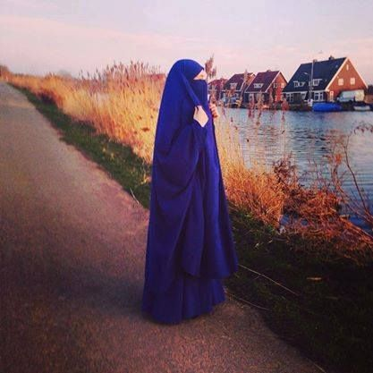 Blue Jilbab and Niqab