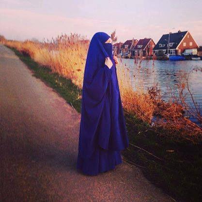 Blue Jilbab and Niqab