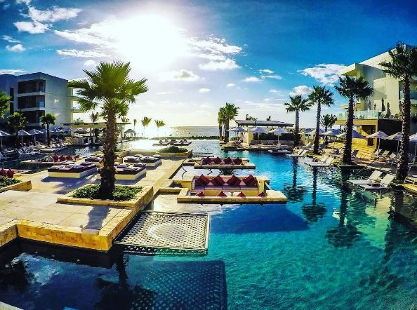 Start each and every day of your luxury vacation with this stunning view of Breathless Riviera Cancun.