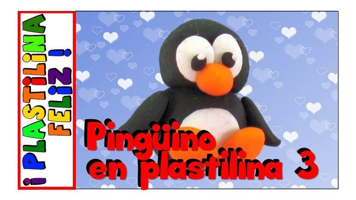 Pingüino en plastilina, pingüino de plastilina