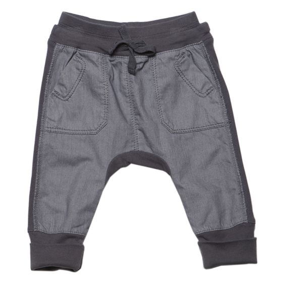 Designer baby boy clothing - Fox & Finch Baby Pop Denim Front Comfy Pant - $42.95