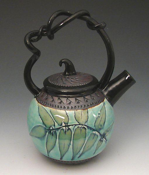 WANT WANT NEED!! Little Kiss Teapot, Sumac: Suzanne Crane: Ceramic Teapot | Artful Home