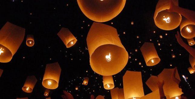 Animation - Lanternes volantes