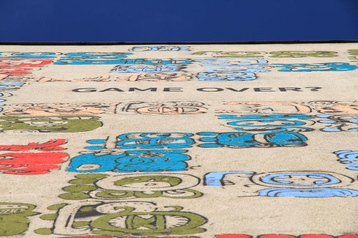 Mayamural, day 5, last. 6/18 Day 5, last. #maya #mural #cracow #2012 #graffiti #streetart Cracow, Poland.