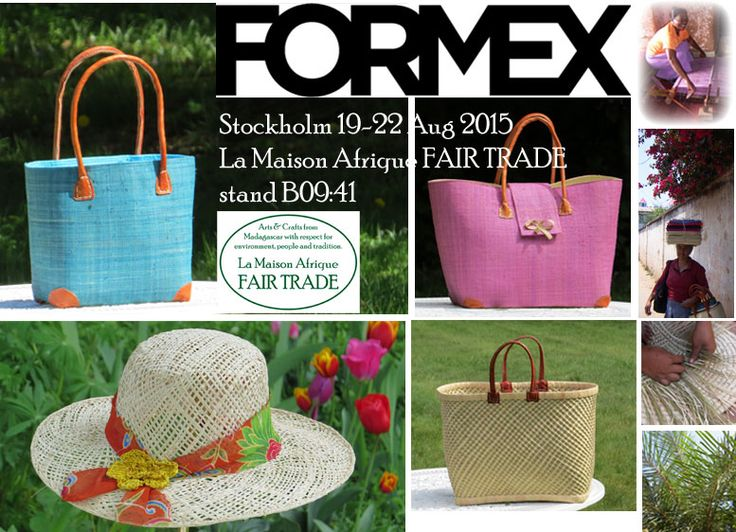 Formex, Stockholm 19-22 August 201.Welcome to La Maison Afrique FAIR TRADE stand B09:41