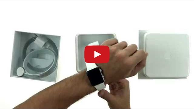 Apple Watch Unboxing [Video] - http://iClarified.com/48728 - An unboxing video of the 42mm Apple Watch model with white Sport Band.