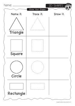 In this package your students will learn: -Names of several 2D shapes -Names of several 3D shapes -Trace and Draw -Recognizing shapes in the objects around us