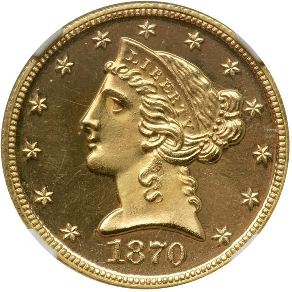 1870. NGC PF66 A marvelous gem example with full glittering mirror surfaces agai...