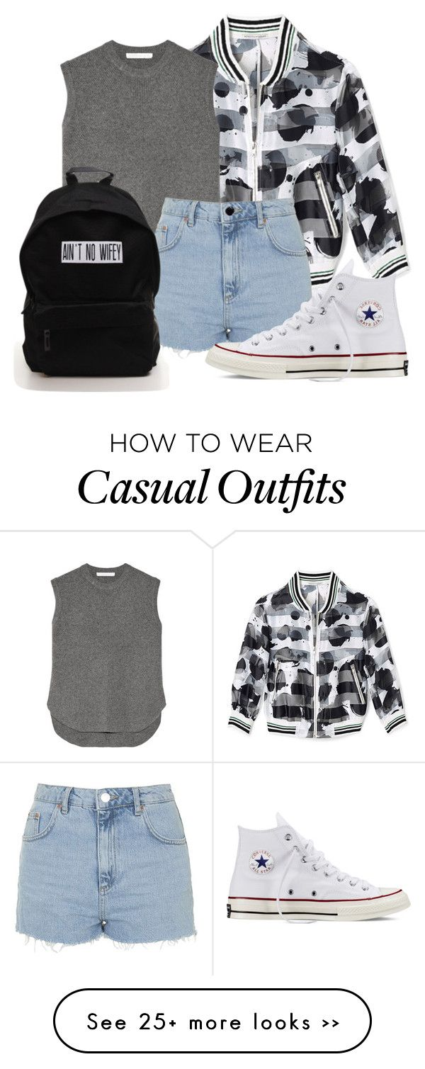 """Casual Saturday"" by alwaysballin on Polyvore featuring Rebecca Minkoff, Alexander Wang, Topshop and Converse"