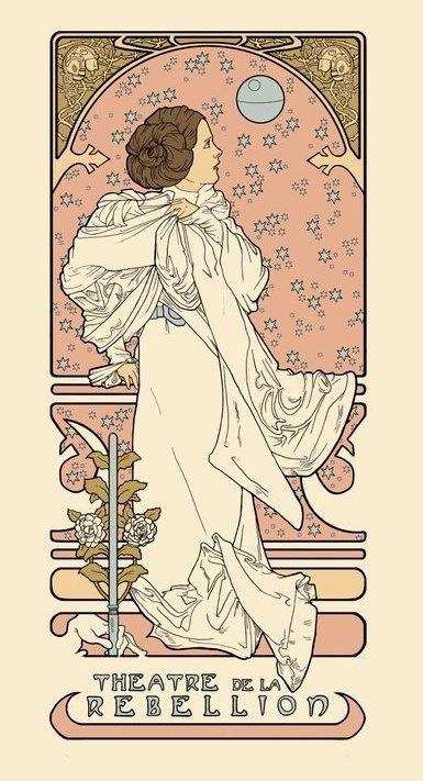 Leia made art nouveau by Karen Haillon