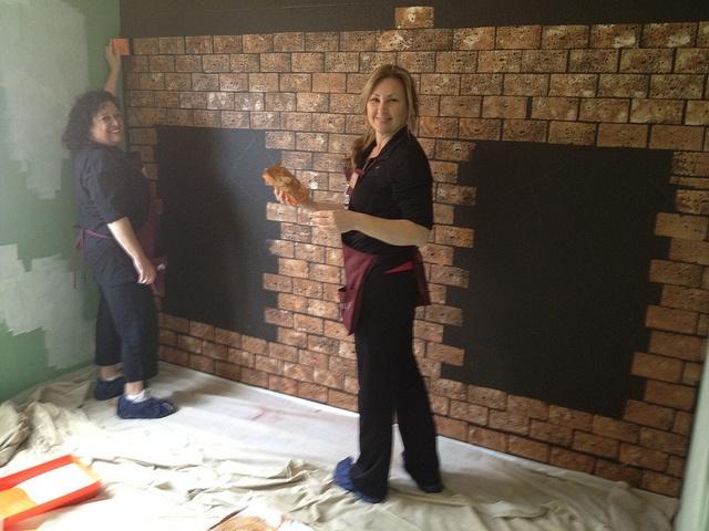 Painting Faux Brick
