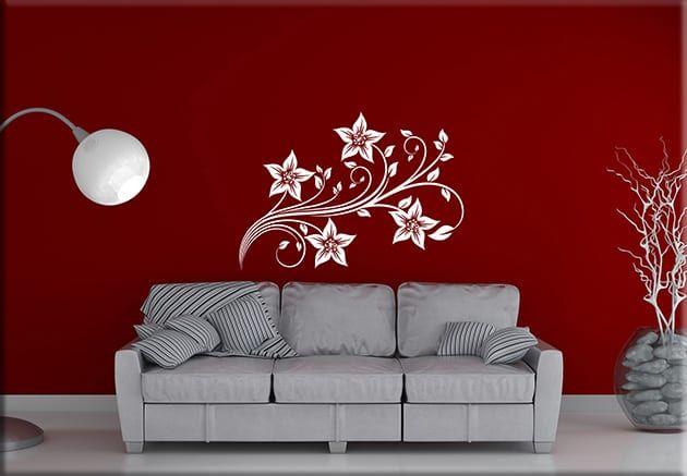 Adesivi Floreali Da Parete.Adesivi Murali Fiori Stilizzati Arredo Design Ws1259