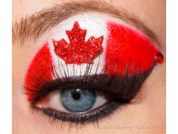 Canada Day Celebration Smoky Eye Makeup idea !! On my total must to do list! ;)