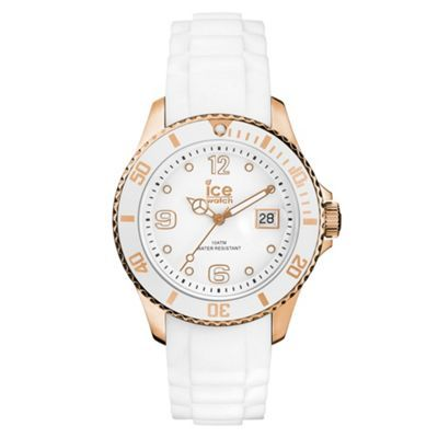 ICE Unisex white silicone watch- at Debenhams.ie