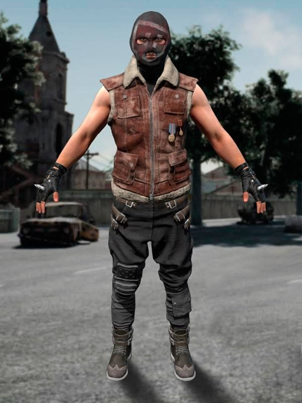 5e651acb4fd776 PUBG Brown Suede Leather Vest