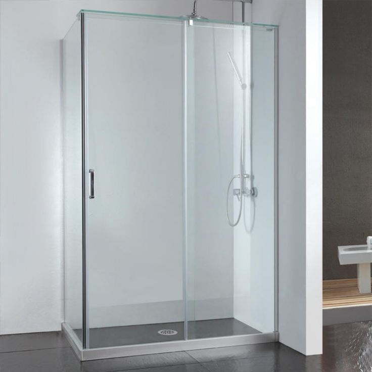 Best 25 corner shower doors ideas on pinterest corner for Corner sliding glass doors