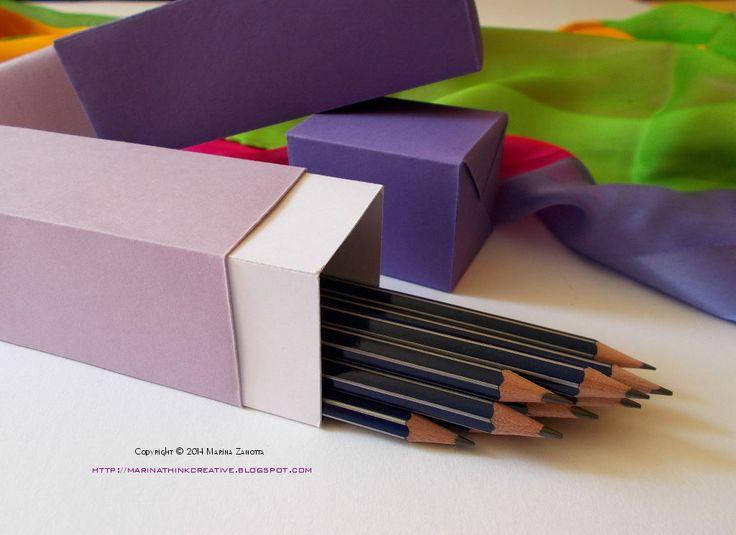 Scatola di carta porta matite