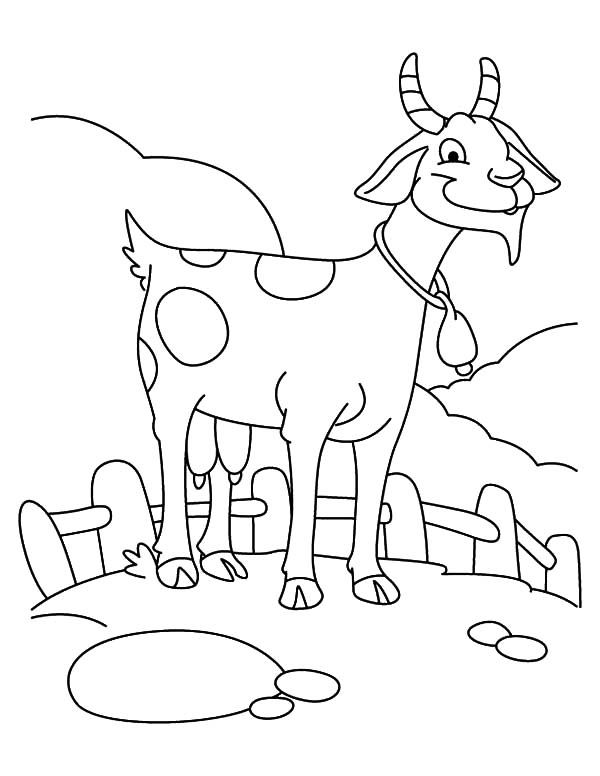 coloring pages of goats - photo#13