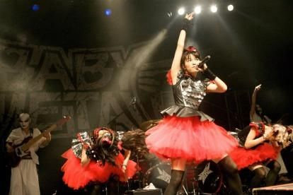 """rosamour:  (via BABYMETAL Unofficial FansiteBABYMETAL in Denver, Support Act for Lady Gaga ArtRAVE: photos and videos 