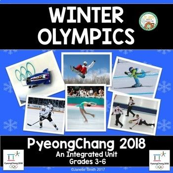 This engaging unit incorporates a variety of language arts, math skills, social studies, and science  to help students learn about the 2018 Winter Olympics.