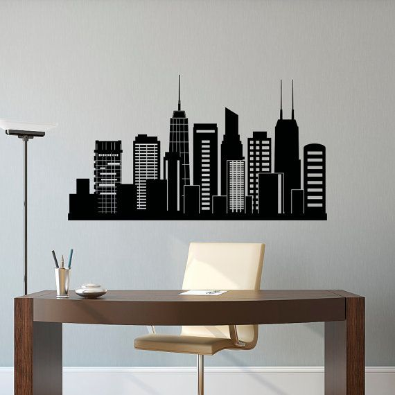 Dorm Room Ideas Silhouette Wall Decals