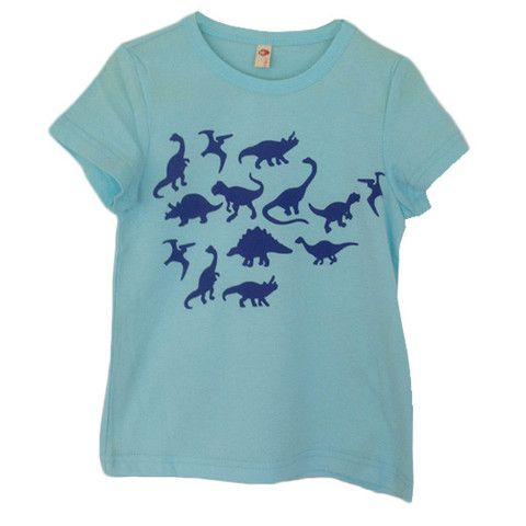 Dino tee in blue also available in mauve