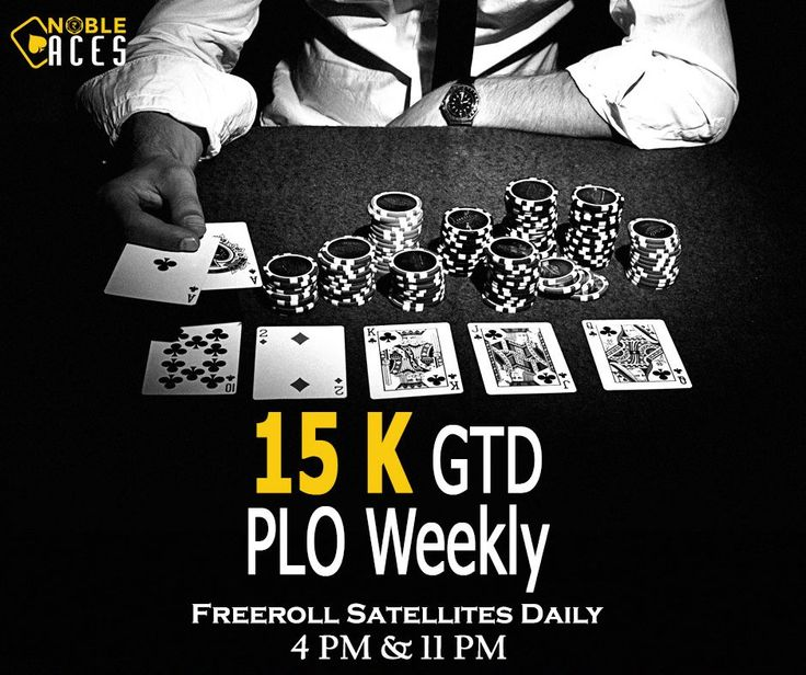 Weekly 15K GTD PLO Today at 10:30 PM. Entry for this tournament is 500+50.