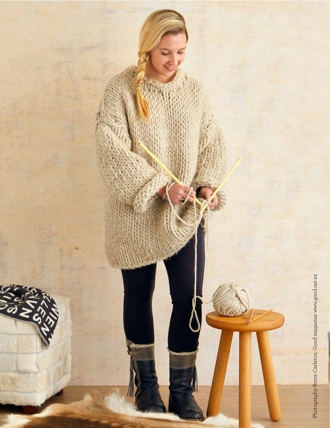 This was a fun photoshoot to be involved in with a recent issue of Good magazine ... Mega knitting | Good Magazine