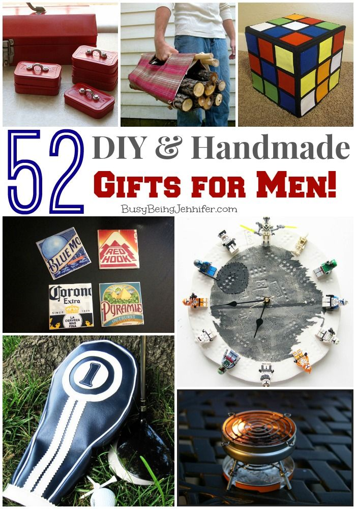 52 DIY and Handmade Gifts for Men! - BusyBeingJennifer.com