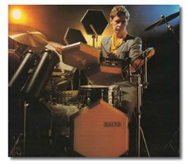 Bill Bruford ad for Simmons SDS-V
