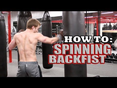 How to: Spinning Back Fist (like Bas Rutten) Shane Fazen | fighttips.com #streetfight #selfdefence