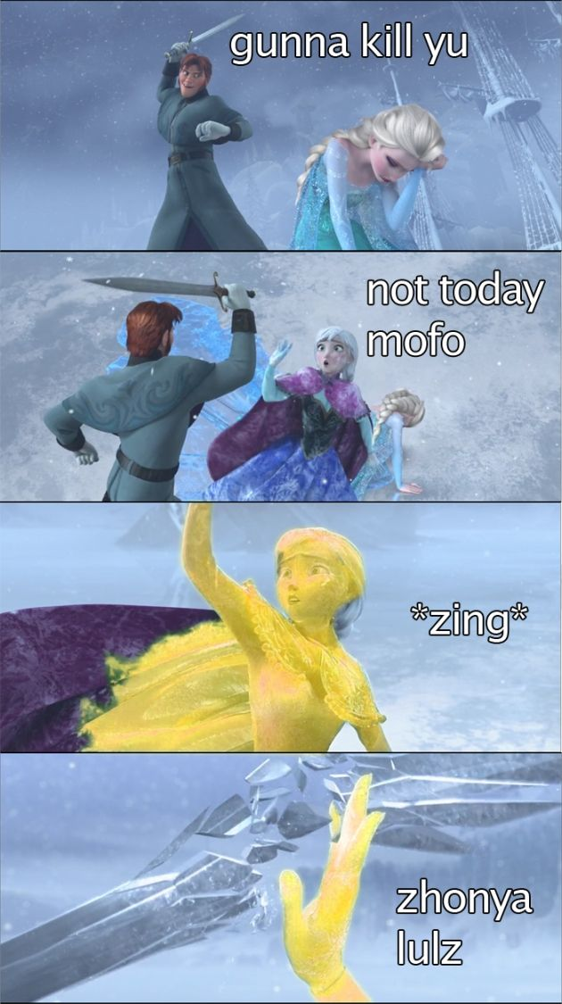 Frozen and League of Legends mash up! Anna must be an AP carry, like her sister.