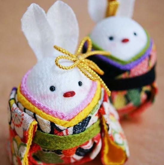桃の節句 お雛祭りに うさぎ雛 http://komono.jp.net/