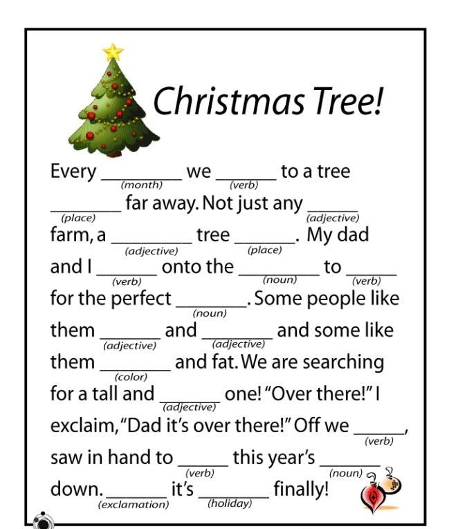 Free christmas printables children holiday education write a story
