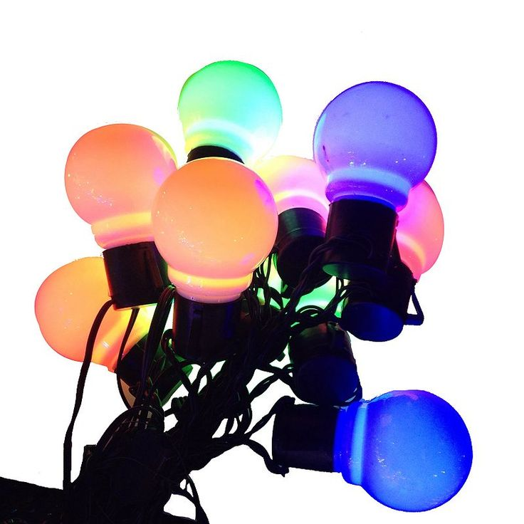 10-Light LED Old-Time Party String Lights, Multicolor