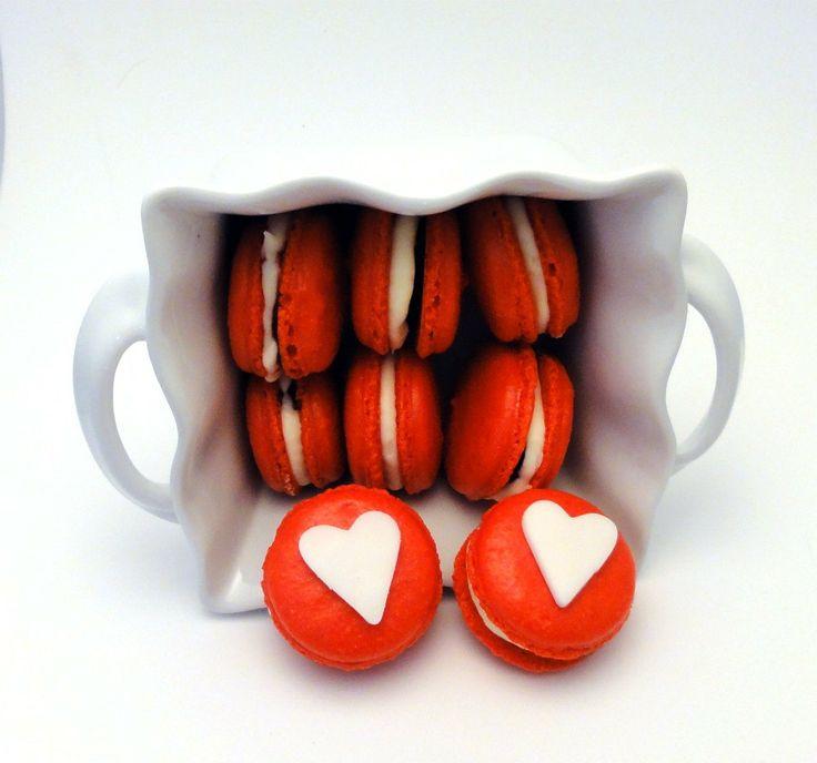 Franse macarons voor Valentijns dag