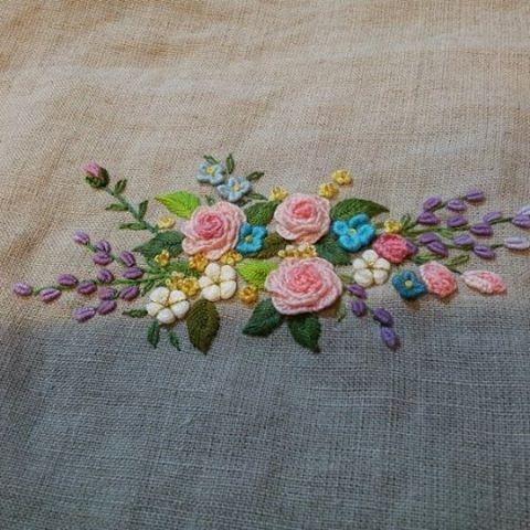 #Embroidery #flower #handmade #gachi