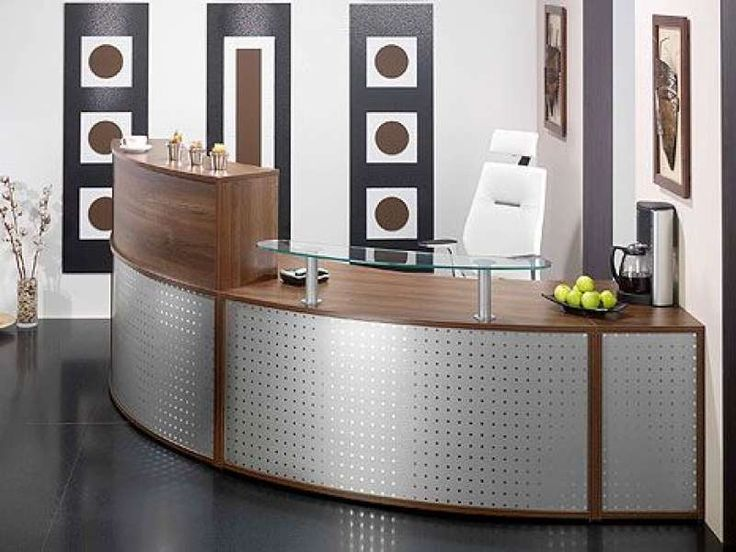 Maine Reception Desk.  Designed to Inspire.  The Maine Reception Desk provides everything you could need to create a cost effective working reception environment.  Image Shows 2405mm x 2000mm Unit with Desk High Pedestal and Glass Shelf.  Prices From £1801.80 Plus vat. http://www.somercourt.co.uk/reception-desks/reception-desks/maine-reception-desk