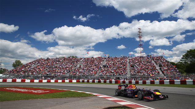 La voiture de Sebastian Vettel lors du Grand Prix du Canada, à Montréal, le 9 juin 2013