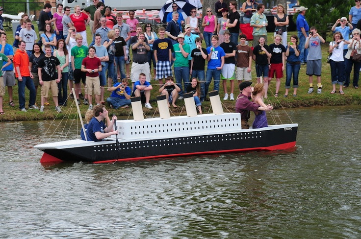 Last year's cardboard boat race happened to fall on the 100th anniversary of the Titanic's sinking. Watch our students' creative reenactment! http://www.letu.edu #letourneau #letourneauuniversity