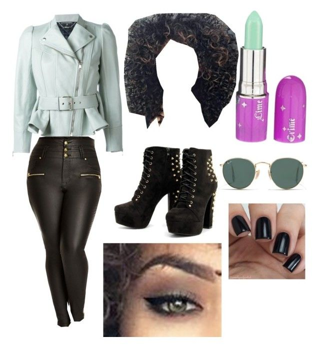 """""""Rocker Much?"""" by madameinker on Polyvore featuring Alexander McQueen, City Chic, Lime Crime, Ray-Ban and plus size clothing"""