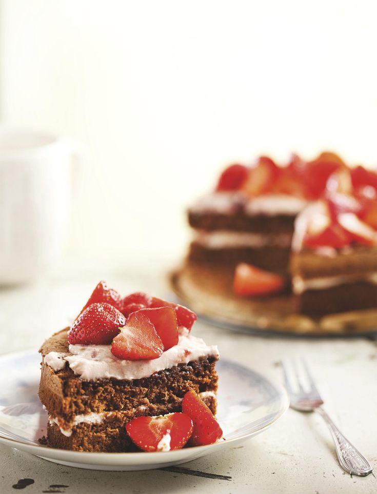 Chocoladetaart met aardbeienmascarponeLees verder