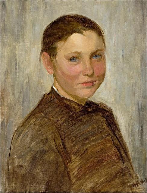 Maria Wiik (Finnish artist, 1853-1928) Snappertuan tytto