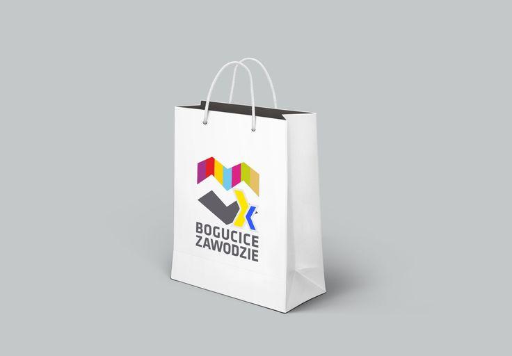 Młodzieżowy Dom Kultury Bogucice-Zawodzie w Katowicach - koncepcja logotypu - torba podarunkowa