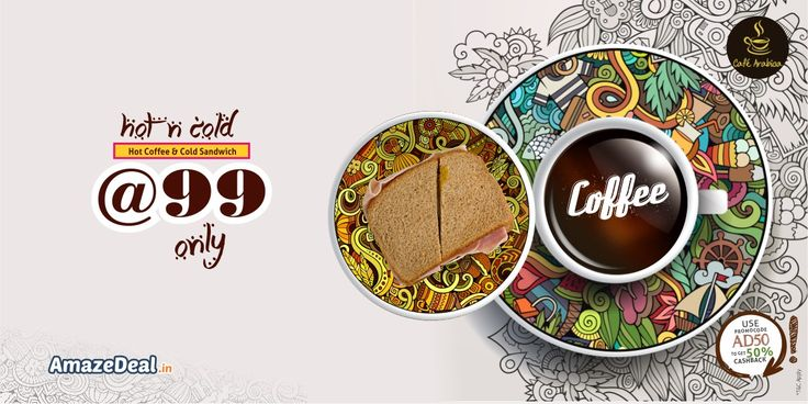 Cafe Arabica  Hot Coffee & Cold Sandwich at Rs99  Visit: www.amazedeal.in #StayAmazed #AmazingSavings #Chandigarh #Food